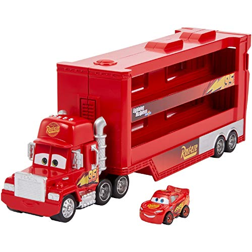 Disney Cars GNW34 - Disney•Pixar Cars Mini Racer Transporter Sortiment mit Mini Fahrzeug