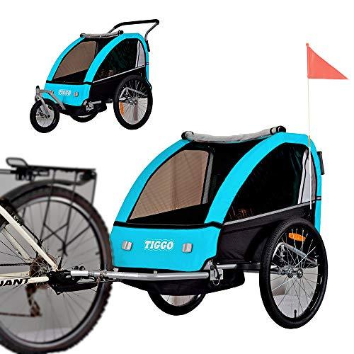 Kinderanhänger Fahrradanhänger 2 in 1 Anhänger Kinderfahrradanhänger mit Buggy Set + Federung...