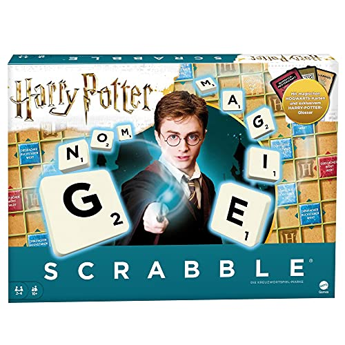 Mattel Games GMG29 - Scrabble Harry Potter Wortspiel in deutscher Sprachversion, Familienspiele ab 10...