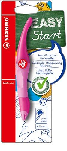 Ergonomischer Tintenroller für Rechtshänder - STABILO EASYoriginal in pink hell/dunkel - Einzelstift -...