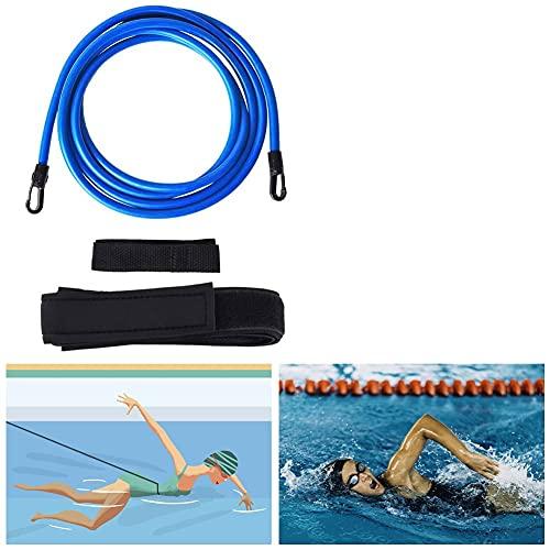 Gohytal Schwimmtraining Gürtel, 4M Schwimmtraining Bungee Seil Durable Schwimmgürtel Erwachsene...