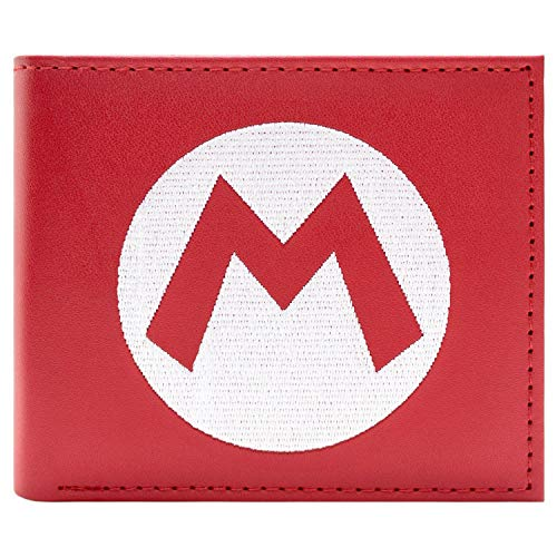 Super Mario Hut Logo Portemonnaie Geldbörse Rot