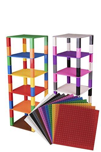 Strictly Briks Stapelbare Premium Bauplatten inkl. Bausteinen mit 2x2 Noppen kompatibel mit Allen Marken...