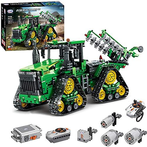 Technik Ferngesteuert Traktor, 1706 Teile Technic Groß Motorisierter Traktor Modell für 9620 RX...