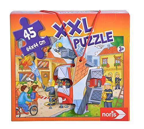 Noris 606038000 XXL Riesenpuzzle Feuerwehr im Einsatz mit 45 Teilen (Gesamtgröße: 64 x 44 cm) - für...