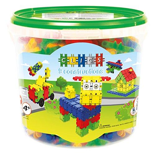 Clics Konstruktionsspielzeug für Kinder ab 3 Jahre, kreatives Lernspielzeug im 175 Teile Set, Bausteine...