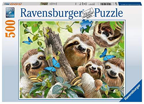 Ravensburger Puzzle 14790 - Faultier Selfie - 500 Teile Puzzle für Erwachsene und Kinder ab 10 Jahren,...