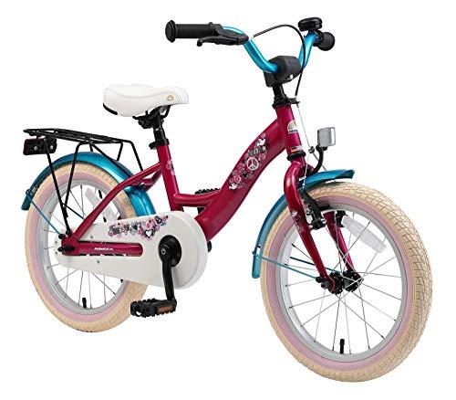 BIKESTAR Kinderfahrrad für Mädchen ab 4-5 Jahre | 16 Zoll Kinderrad Classic | Fahrrad für Kinder Berry...