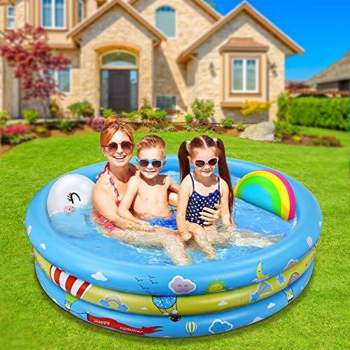 Jojoin Aufblasbares Planschbecken, übergroßes Baby-Sommerschwimmbad mit aufblasbarem...