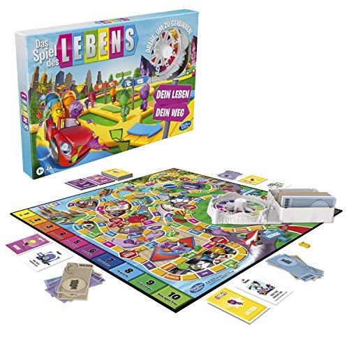Hasbro F0800100 Das Spiel des Lebens, Brettspiel für die ganze Familie für 2 – 4 Spieler, für Kinder...