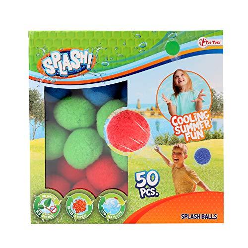 Toi-Toys Wasserbomben Bälle Sets wiederverwendbare Wasserbälle für Wasserschlacht draußen...