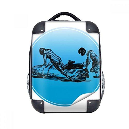 DIYthinker Wintersport Skifahren Ski und Schuhe Illustration Hard Case Schulter Kind-Rucksack-Geschenk...