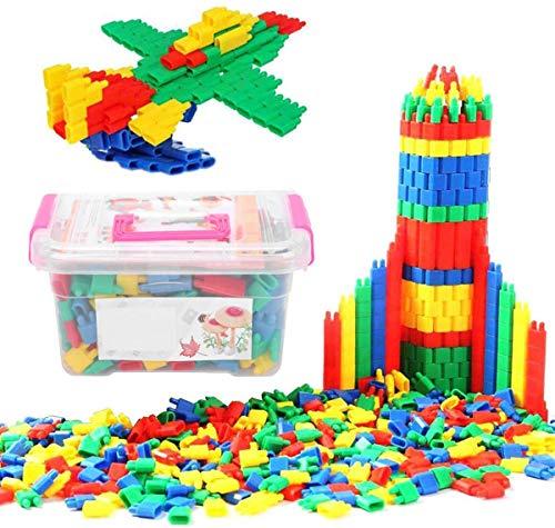 Bauklötze Kinderspiel Steckbausteine für Kinder ab 3Jahre Alter Steckspiel Spielzeug Kunststoff...