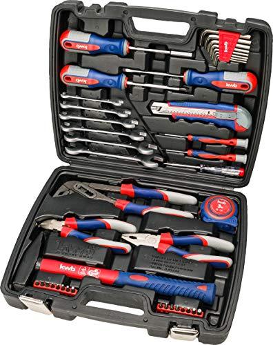 kwb Werkzeug-Koffer inkl. Schrauber-Bits, 42-teilig, gefüllt, robust und hochwertig, ideal für den...