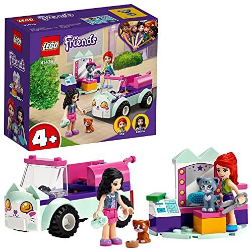 LEGO 41439 Friends Mobiler Katzensalon Set mit Mini Tierfiguren und Mini Puppen Emma & Mia, Spielzeug ab...