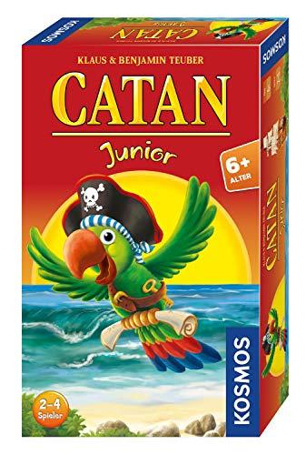 KOSMOS - CATAN Junior Mitbringspiel, kompaktes Brettspiel für Kinder ab 6 Jahren, Strategiespiel für 2...