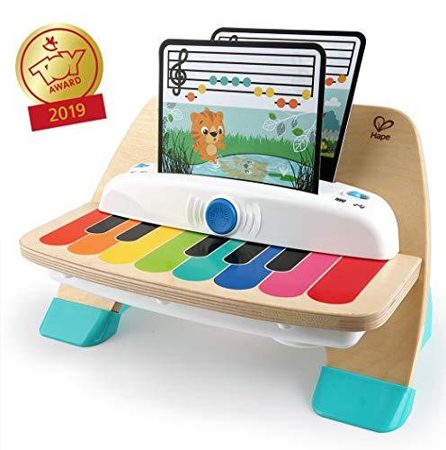 Baby Einstein Hape Magic Touch Piano Musikspielzeug Klavier aus Holz, mit 3 Notenblättern und 6 Liedern,...