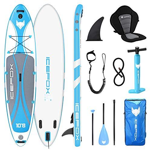 Icefox Stand Up Paddling Board, aufblasbares SUP Board, Stand Up Paddle Board Set, 6 Zoll dick für alle...