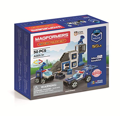 MAGFORMERS GmbH 278-55 Magformers Amazing Police Set 50T, bunt