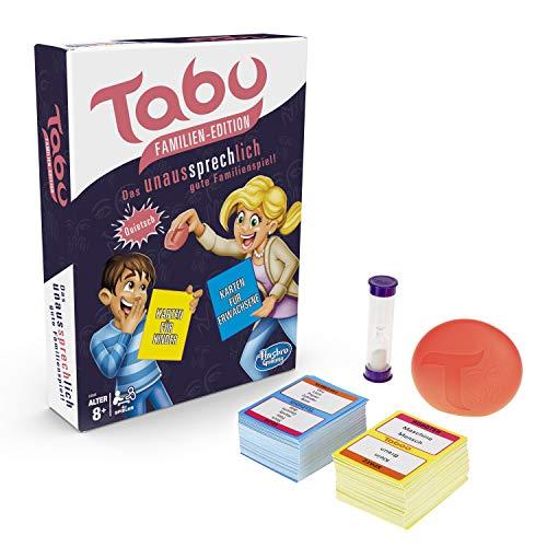Tabu Familien Edition, mit Karten für Kinder und Erwachsene, Familienspiel