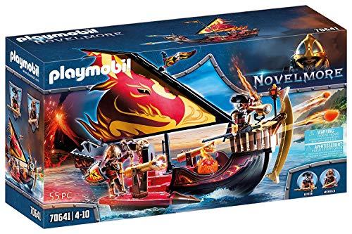 PLAYMOBIL Novelmore 70641 Burnham Raiders Feuerschiff, Schwimmfähig, Ab 4 Jahren