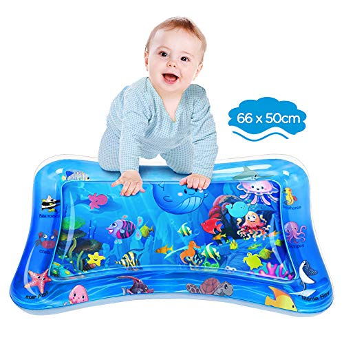 Dusor Wassermatte Baby, Wasserspielmatte BPA-frei, Baby Spielzeug 3 6 9 Monate, Aufblasbare Bauchzeit...