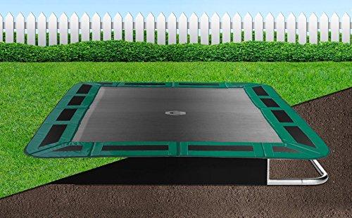 Flatground Rechteck Trampolin Capital Play 335x244 Grün Bodentrampolin