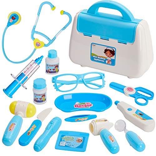 BUYGER 16 Teile Arztkoffer Doktorkoffer Kinder Rollenspiel Spielzeug Doktor Spiele ab 3 Jahren für...