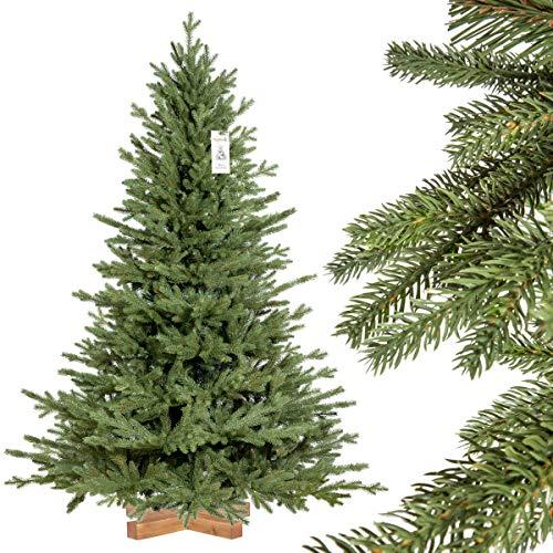 FairyTrees künstlicher Weihnachtsbaum BAYERISCHE Tanne Premium, Material Mix aus Spritzguss & PVC, inkl....