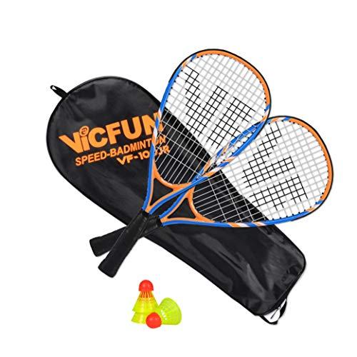 VICFUN Speed-Badminton 100 Set Junior - 2 Badmintonschläger, 3 Bälle und eine hochwertige...