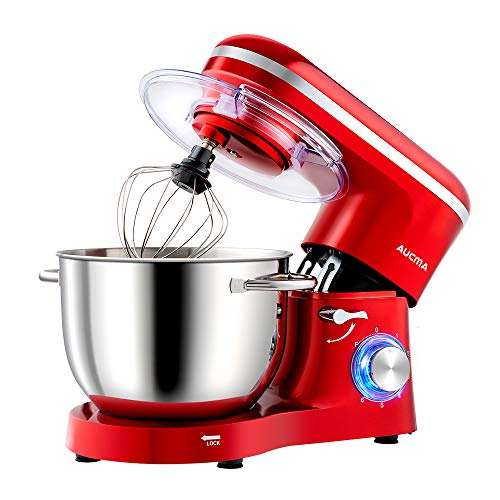 Aucma Küchenmaschine Knetmaschine 1400W, 6.2L Reduzierte Geräusche Knetmaschine mit Rührbesen,...