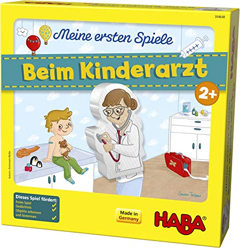 HABA 304648 - Meine ersten Spiele – Beim Kinderarzt, Lern- und Memospiel für 1-4 Spieler ab 2 Jahren,...