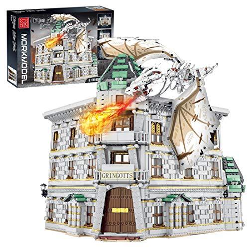 LesDiy Straßenansicht Klemmbausteine Bausatz, Straßenansicht Winkelgasse Bank Kompatibel mit Lego Harry...