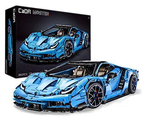 Italienisches Supercar, blau, 12-Zylinder, 3842 Teile (kompatibel mit Lego Technic), von MOC Desinger...