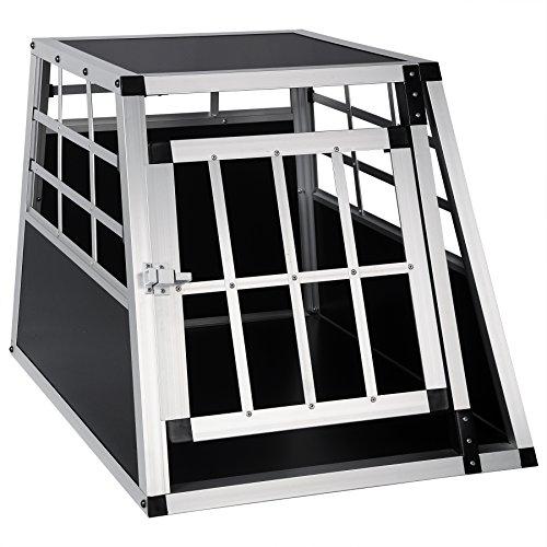 EUGAD Hundebox Transportbox Hundetransportbox Alu Reisebox Gitterbox Box L 69 x B 54 x H 50 cm 0050HT
