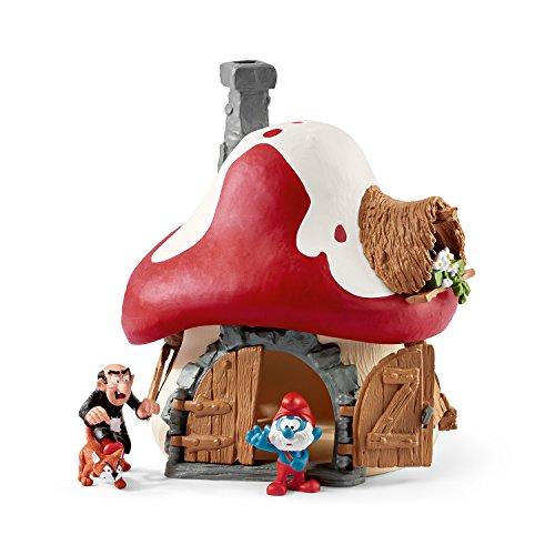 SCHLEICH 20803 La Casa de Papel/Money Heist Smurfs 20803-Schlumpf Haus mit 2 Figuren