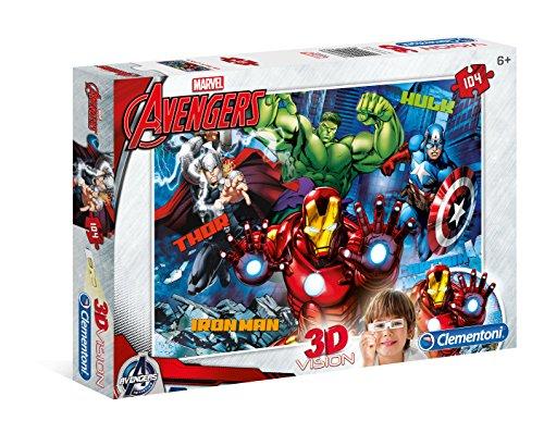 Clementoni 20606.3 - 3 D Vision Puzzle - Avengers Assemble