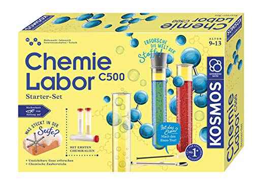 Kosmos 642136 C500 - Chemielabor, Starter-Set, Laboraustattung für Einsteiger, Chemie für Kinder ab 9...