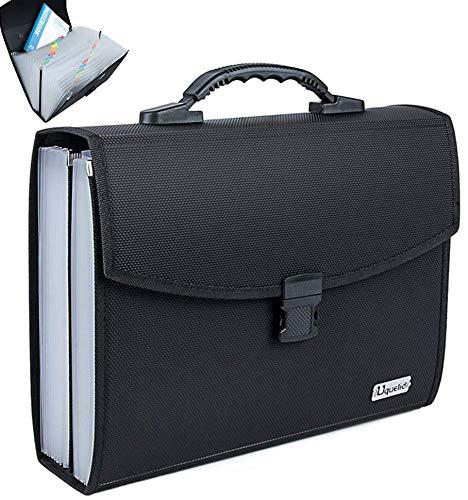 Uquelic Upgrated Datei Organizer A4 26 Taschen Datei Ordner A4 Erweiterbare Datei Ordner Taschen A4...
