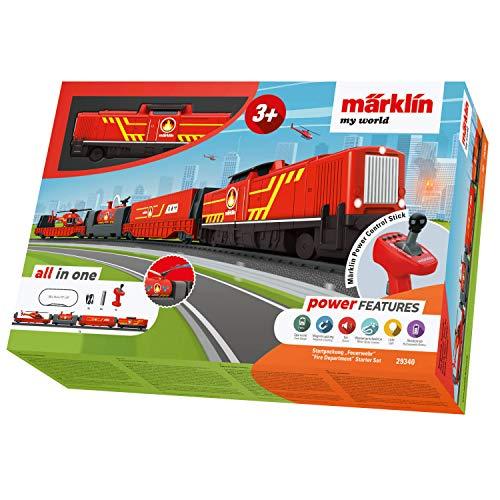 Märklin 29340 my world ‐ Startpackung Feuerwehr, Modelleisenbahn für Kinder ab 3 Jahre, Licht- und...