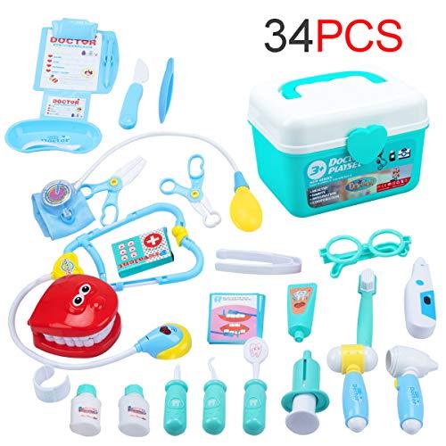 EFO SHM Arztkoffer Arzt Spielzeug Kinderarztkoffer Dentist Doktor Set Medizinische Kit Lernspielzeug...