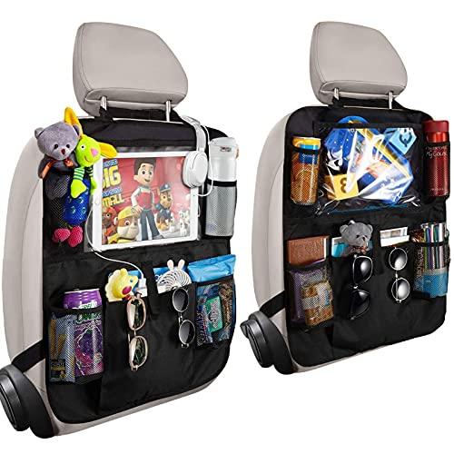 Orlegol Auto Rückenlehnenschutz, 2x Auto Rücksitz Organizer für Kinder, Wasserdicht Rücksitzschoner...