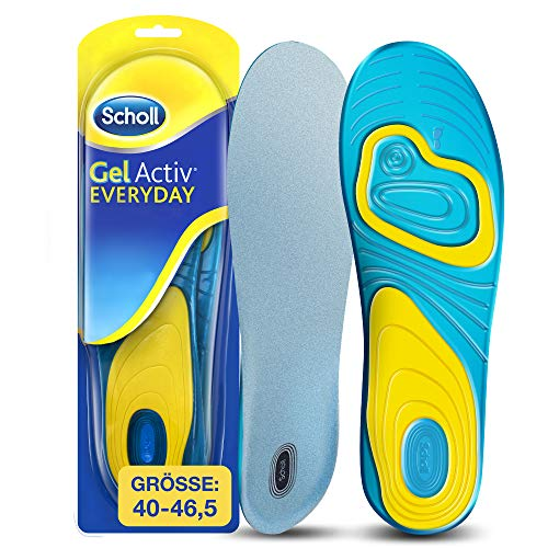 Scholl GelActiv Einlegesohlen Everyday für Freizeitschuhe von 40-46,5 – Einlagen mit verbesserter...