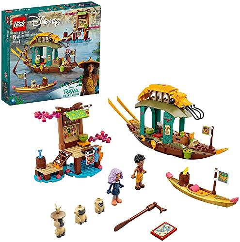 LEGO 43185 Disney Princess Bouns Boot Spielzeug mit 2 Mini Puppen aus dem Film Raya und der letzte...