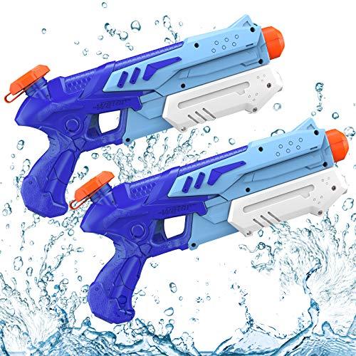 Wasserpistole, 2 Pack Super Squirt Wasserpistolen ,300ML Großer Kapazität & 10 Meter Reichweite, Kind...