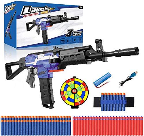 Elektrische Spielzeug Pistole mit 12 Clip Magazin, Automatische Blaster für Nerf Pfeilen mit 100...
