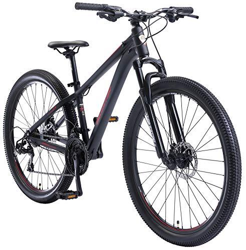 BIKESTAR Hardtail Aluminium Mountainbike Shimano 21 Gang Schaltung, Scheibenbremse 27.5 Zoll Reifen | 14...