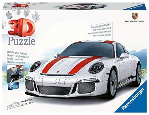 Ravensburger 3D Puzzle 12528, Porsche 911 R, 3D Puzzle für Kinder und Erwachsene mit 108 Teilen,...