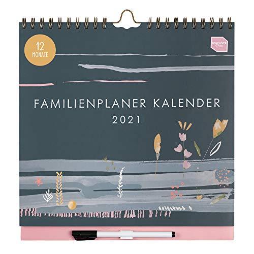 Boxclever Press 12-monatiger Familienplaner Kalender 2021. NEU FÜR 2021! Wandkalender 2021 mit 6...