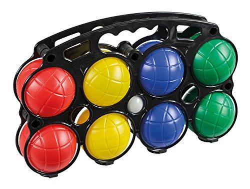 Idena 7400014 - Boccia Spiel mit 8 farbigen Kugeln und Zielkugel, aus Kunststoff und mit Wasser gefüllt,...